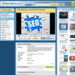 Perth SEO Services PowerPoint presentation