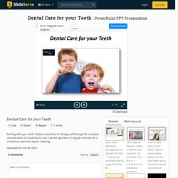 Dental Care for your Teeth