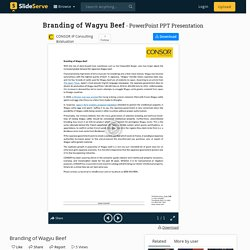 Branding of Wagyu Beef PowerPoint Presentation, free download - ID:9874554