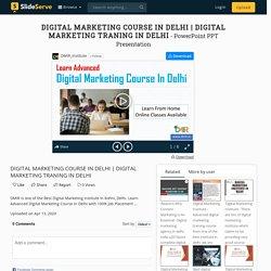 DIGITAL MARKETING TRANING IN DELHI PowerPoint Presentation - ID:9873358
