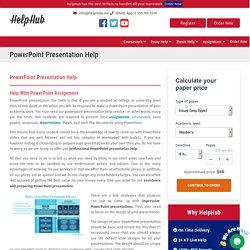 Online Powerpoint Presentation Help