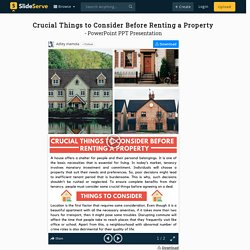 Crucial Things to Consider Before Renting a Property