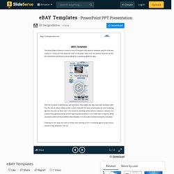 Responsive eBay Template Design by OCDesignsOnline
