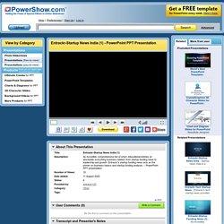 Entrackr-Startup News India (1) PowerPoint presentation