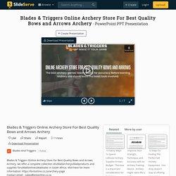 Buy Best Archery Bows, Arrows & Equipment Online