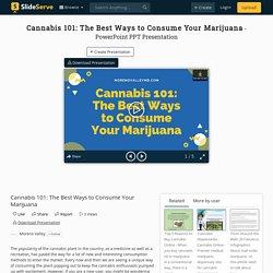 Cannabis 101: The Best Ways to Consume Your Marijuana PowerPoint Presentation - ID:10071916