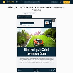 Effective Tips To Select Lawnmower Dealer