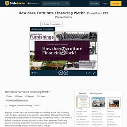 How does Furniture Financing Work? PowerPoint Presentation, free download - ID:10096560
