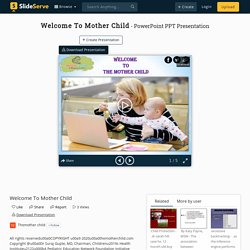 Welcome To Mother Child PowerPoint Presentation, free download - ID:10102625