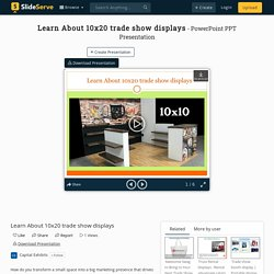 Learn About 10x20 trade show displays