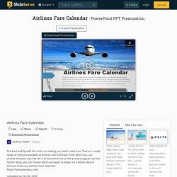Airlines Fare Calendar