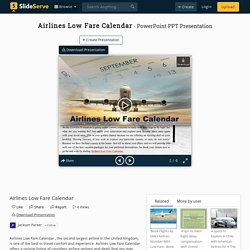 Airlines Low Fare Calendar