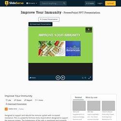 Improve Your Immunity