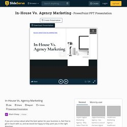 In-House Vs. Agency Marketing PowerPoint Presentation, free download - ID:9745686