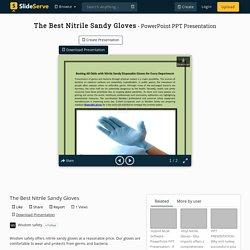 The Best Nitrile Sandy Gloves