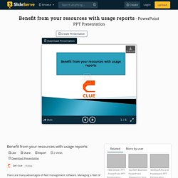 Benefit from your resources with usage reports PowerPoint Presentation - ID:10214505