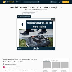 Special Variants From Zero Turn Mower Suppliers