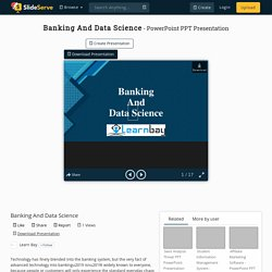Banking And Data Science
