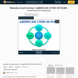 AMERICAN CITIES IN FILMS PowerPoint Presentation - ID:10280796
