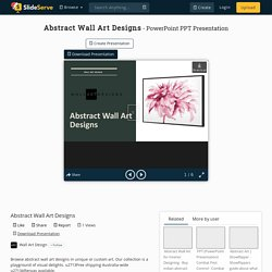 Abstract Wall Art Designs PowerPoint Presentation, free download - ID:10320052