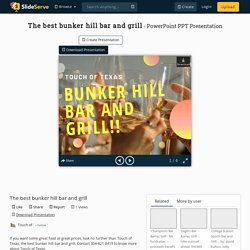 The best bunker hill bar and grill PowerPoint Presentation, free download - ID:10325554
