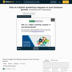 Role of a digital marketing company in your business growth