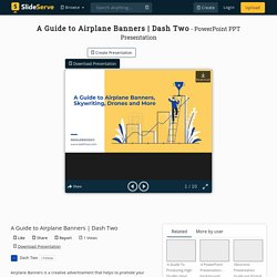 A Guide to Airplane Banners