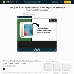Timely and Fair Quality iPad Screen Repair in Brisbane