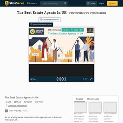 The Best Estate Agents In UK PowerPoint Presentation, free download - ID:10356998