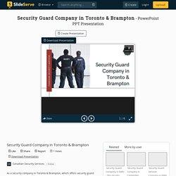 Security Guard Company in Toronto & Brampton PowerPoint Presentation - ID:10391178