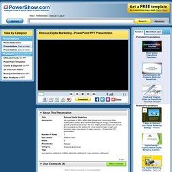 Robusq Digital Marketing PowerPoint presentation
