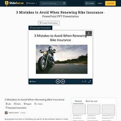 3 Mistakes to Avoid When Renewing Bike Insurance