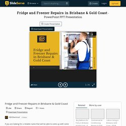 Fridge and Freezer Repairs in Brisbane & Gold Coast