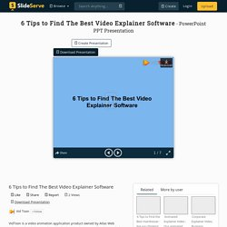 Find Animated Explainer Video Software