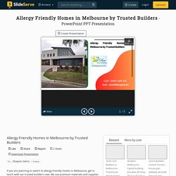 Allergy Friendly Homes in Melbourne by Trusted Builders