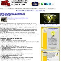 PowerPoint Presentation Game 6 Add-In