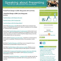 PowerPoint Design in 2009