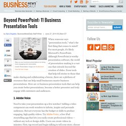 Beyond PowerPoint: 11 Other Presentation Tools for Small Businesses