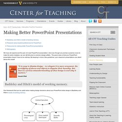 Making Better PowerPoint Presentations