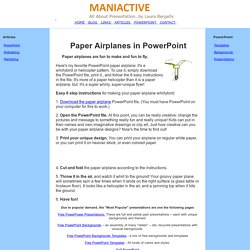 Paper Airplanes in PowerPoint Promotions