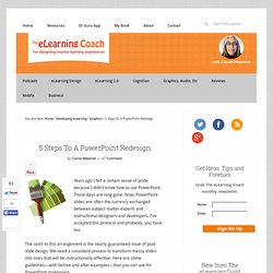 5 Steps To A PowerPoint Redesign