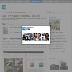Sway : le Powerpoint réinventé par Microsoft