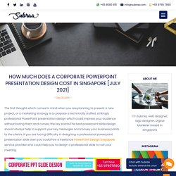 PowerPoint Design Services in Singapore