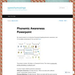 Phonemic Awareness Powerpoint