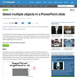 Select multiple objects in a PowerPoint slide