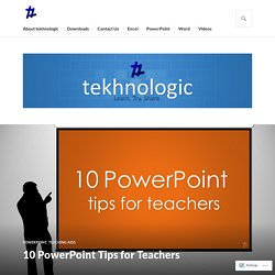 10 PowerPoint Tips for Teachers