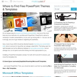 Where to Find Free PowerPoint Themes & Templates