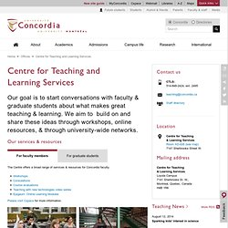 Pedagogy & Powerpoint - Centre for Teaching and Learning Services - Concordia University - Montreal, Quebec, Canada