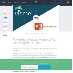 PowerPoint Versus Visme: Which One Is Right For You?
