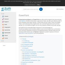PowerPoint – ZUM-Unterrichten